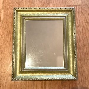 Green/gold mirror 14.5 x 12.5 inches
